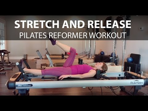Stretch and Release Pilates Reformer Workout for Tight Hips and Upper Back