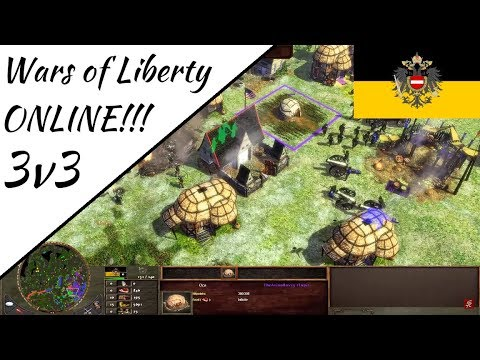 3v3 Wars of Liberty Multiplayer! Age of Empires III