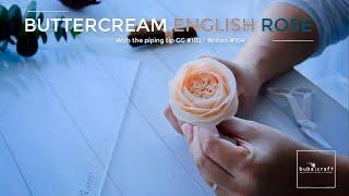 Buttercream English Rose Piping Tutorial - Cách bắt hoa hồng Anh từ kem bơ