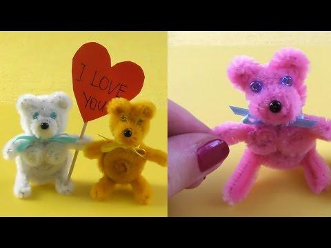 love bear made of pipe cleaners pfeifenputzer teddy b228r