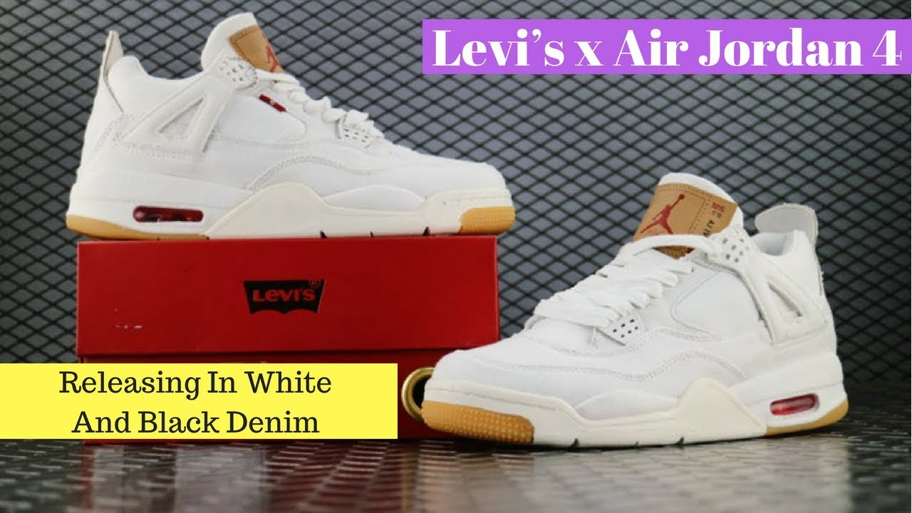 huge discount 71517 d0a97 Levi s x Air Jordan 4 Releasing In White And Black Denim