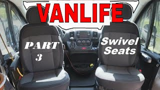Dodge RAM Promaster 🚐Conversion PART 3--Installing Swivel Seats w/ Review #VANLIFE