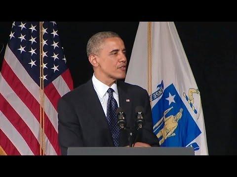 President Obama Speaks at Worcester Technical High School