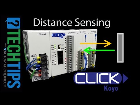 How to Sense Distance with an AutomationDirect CLICK PLC
