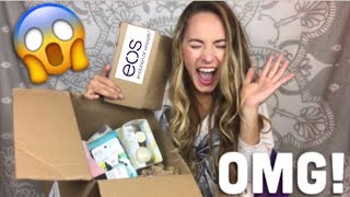 TWO HUGE PACKAGES FROM EOS?! �😱 NEW PRODUCTS!
