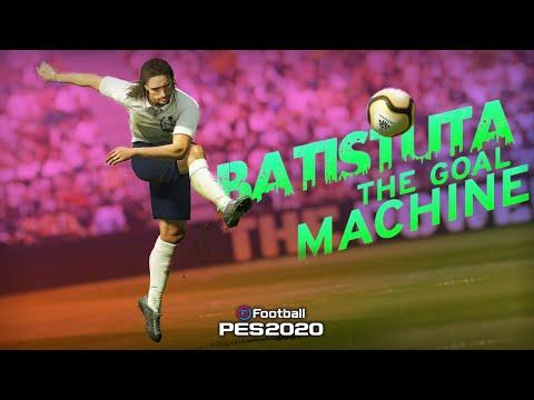 BATISTUTA THE GOAL MACHINE IN PES 20⚡️//BEST CENTER FORWARD🔥//