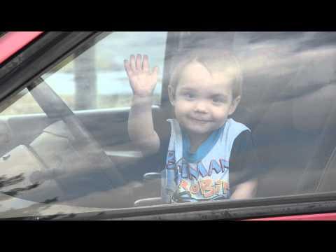 Josiah leaving in the van