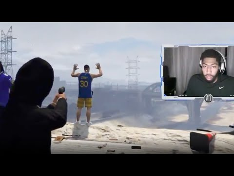 Anthony Davis Very Excited About EXECUTING Steph Curry While Playing GTA Online