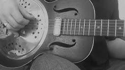 Vintage 1930's resonator guitar, slide blues in open C.