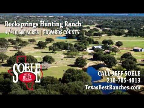 10600± Acre Rocksprings Hunting Ranch in Edwards County, Texas