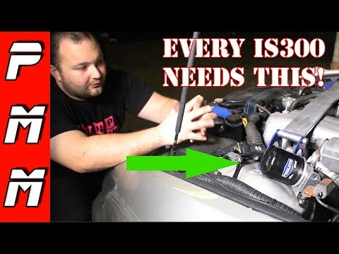 I can't believe I waited this long to do this! 2JZ IS300 oil filter relocation kit