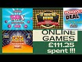 BIG ONLINE EVERY GAME £111.25 spent in National Lottery© online scratch cards 2021