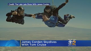 James Corden Skydives With Tom Cruise