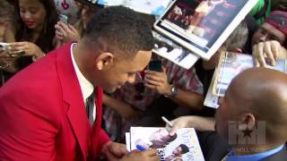 Will Smith Kisses Son Trey on the Mouth Too! - HipHollywood.com