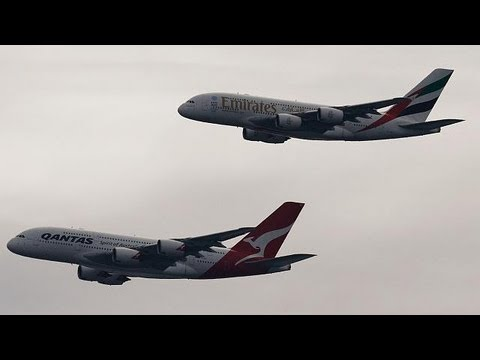 Sydney: Flypast marks Qantas-Emirates marriage