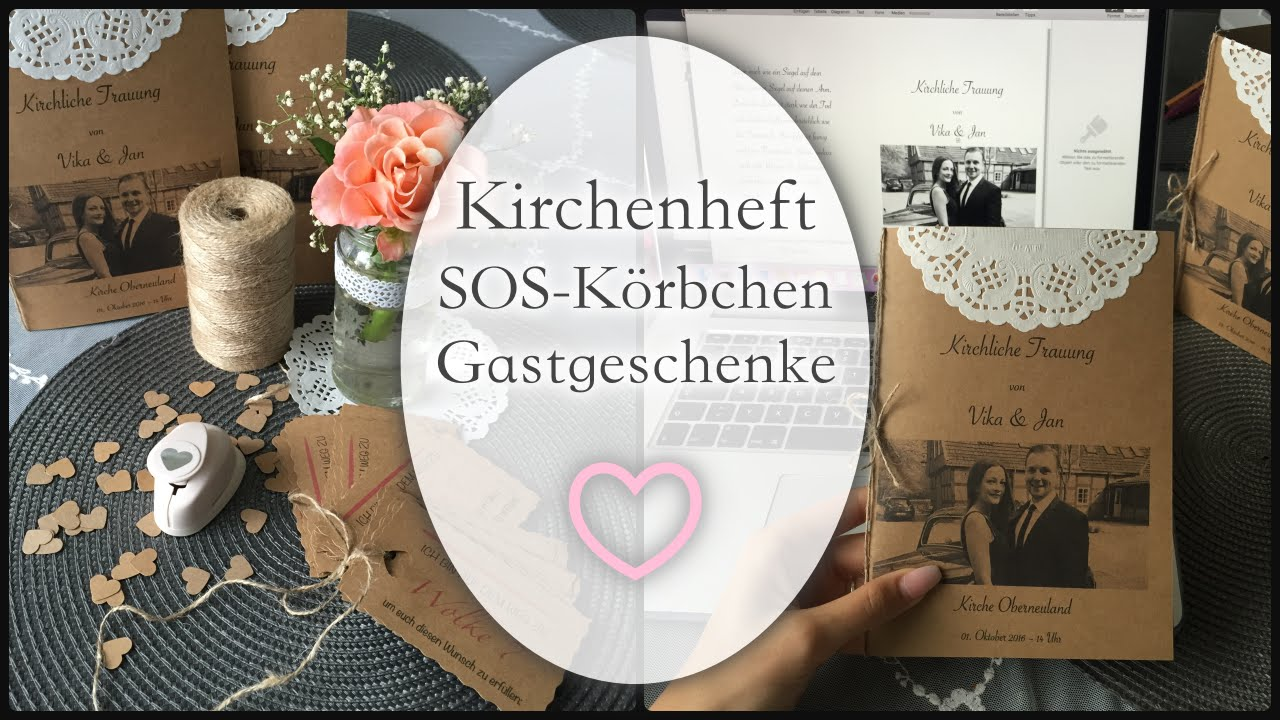 kirchenheft sos k rbchen gastgeschenke hochzeit vintage youtube. Black Bedroom Furniture Sets. Home Design Ideas