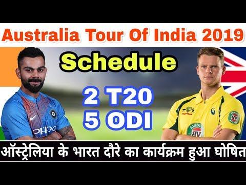 Australia Tour Of India 2019 Schedule, Date, Time, Venue  And Fixtures | IND Vs AUS Feb 2019