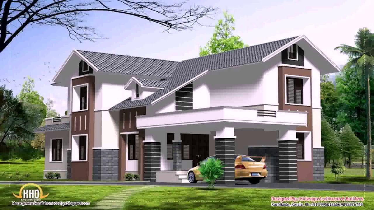 4 Bedroom Double Floor House Plans Kerala Style Gif