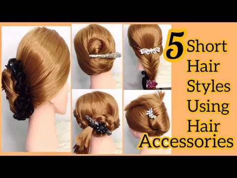 5-easy-short-hair-styles-using-hair-accessories-|-short-hairstyles-for-girls