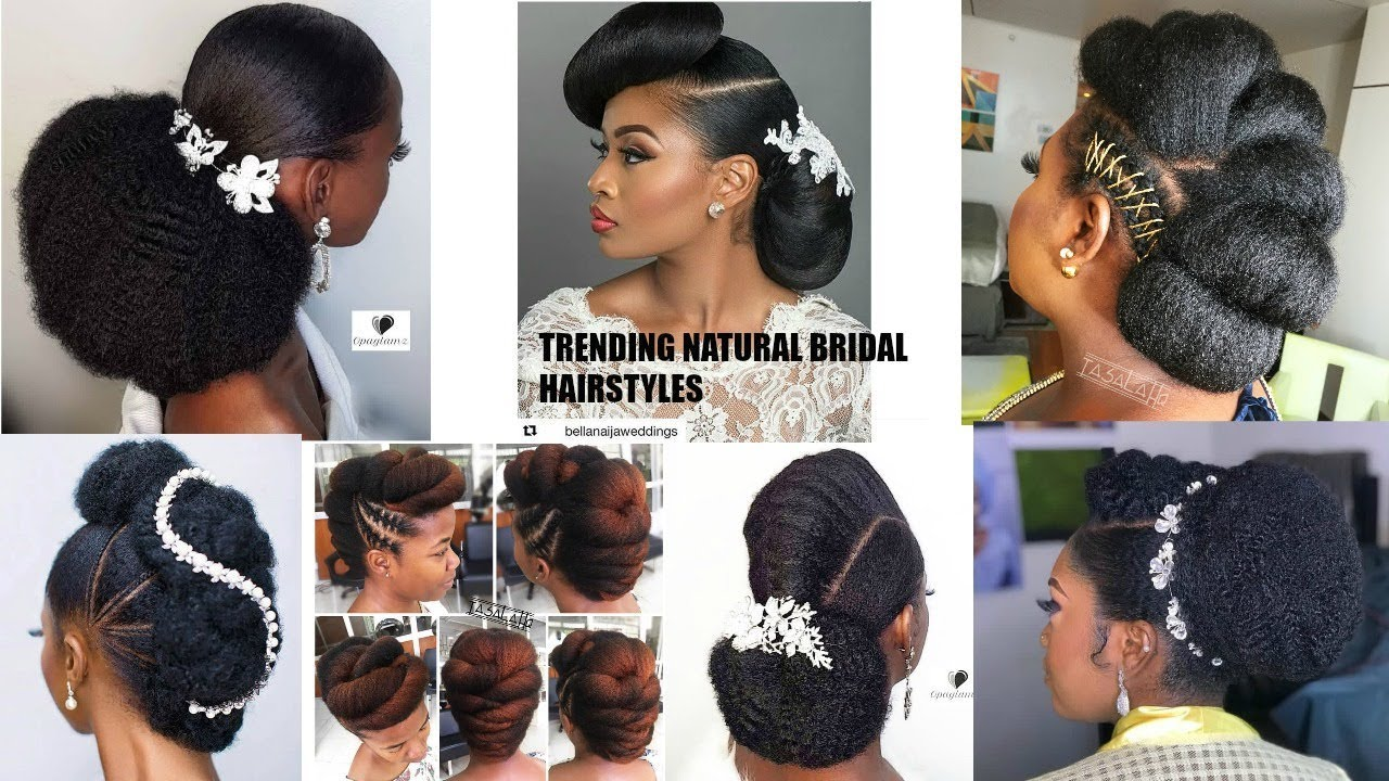 These Natural Hair Bridal Hairstyles Are Beautiful Ogc Youtube