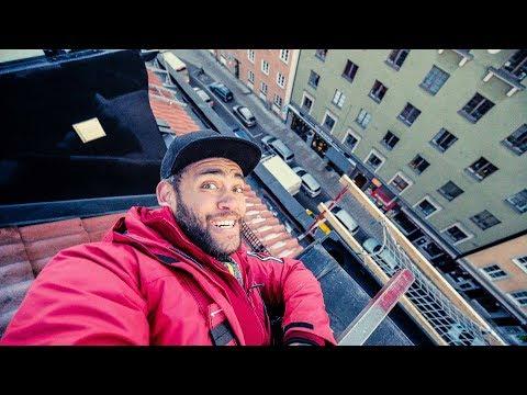Jag klättrar upp på ett 6-vånings TAK | Riley Praktiserar