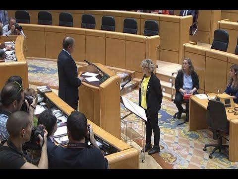 Bronca en el Senado por acatar la portavoz de ERC la Constitución en catalán