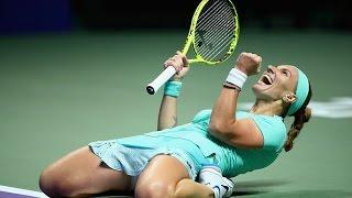 Svetlana Kuznetsova vs Karolina Pliskova  | 2016 WTA Finals Singapore Highlights