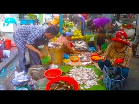 Foods Selling In Boeung Trabaek Market - Cambodian Country Foods