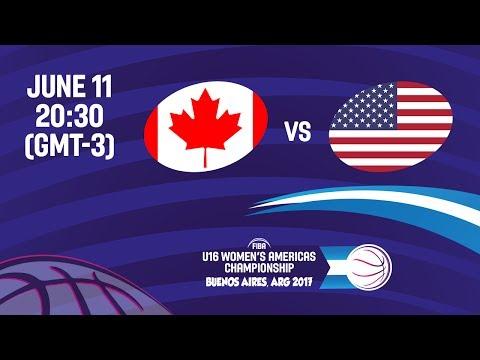 Canada vs United States - Gold Medal - FIBA U16 Women's Americas Championship