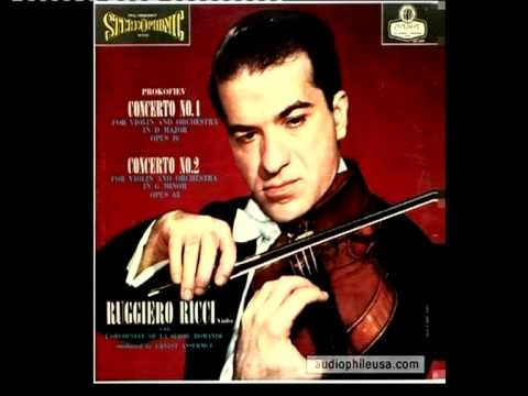 RUGGIERO RICCI plays PAGANINI´s VARIATIONS on G