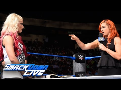 Becky Lynch comes face-to-face with Alexa Bliss - Contract Signing: SmackDown LIVE, Sept. 20, 2016