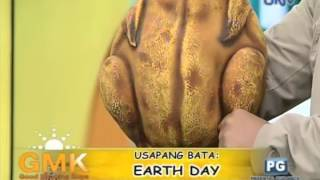 Earth Day talk with Wanlu and puppet Andhok Manok