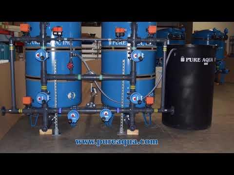 Industrial Filtration System for Iron Reduction Peru 120 GPM | www.pureaqua.com