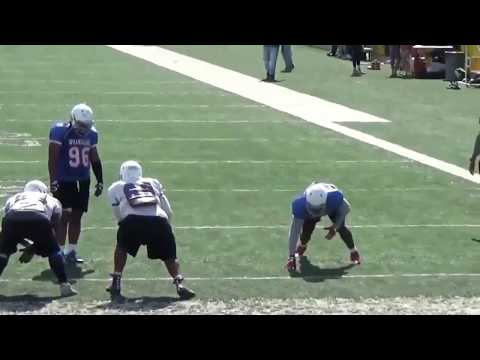 "Jonathan Irizarry 6'4"" 310 lb. OL #69 Cisco College, Cisco TX"