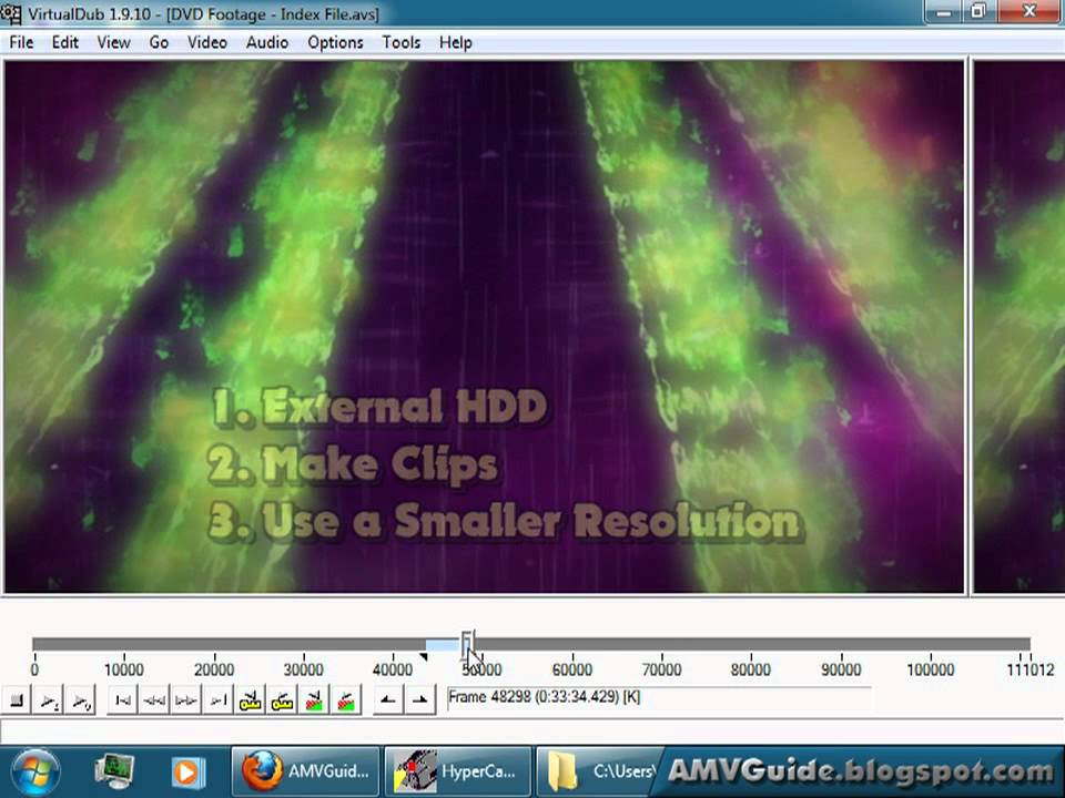 [AMVGuide] Tutorial 10/10 - Converting to Editing-Friendly Footage using  VirtualDub