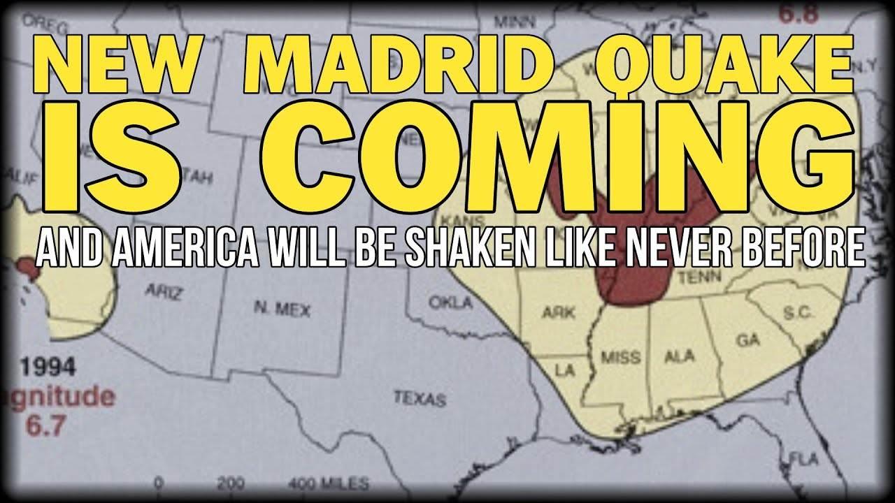 THE NEW MADRID QUAKE IS COMING AND AMERICA WILL BE SHAKEN LIKE - Map of us after new madrid earthquake