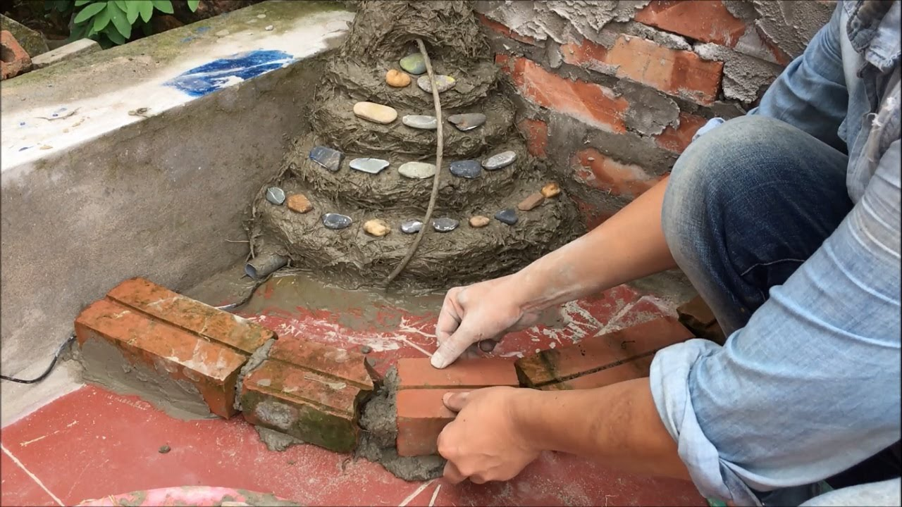 Garden Design Ideas Idea Home Decoration With Beautiful Waterfall And Small Fish Pond Diy Cement Youtube