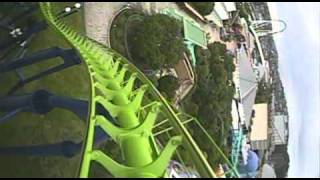 Venus Roller Coaster Front Seat POV Onride Space World Japan