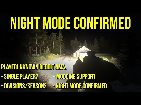 NIGHT MODE CONFIRMED! - Single Player, Modding Support, Seasons, & More - PUBG