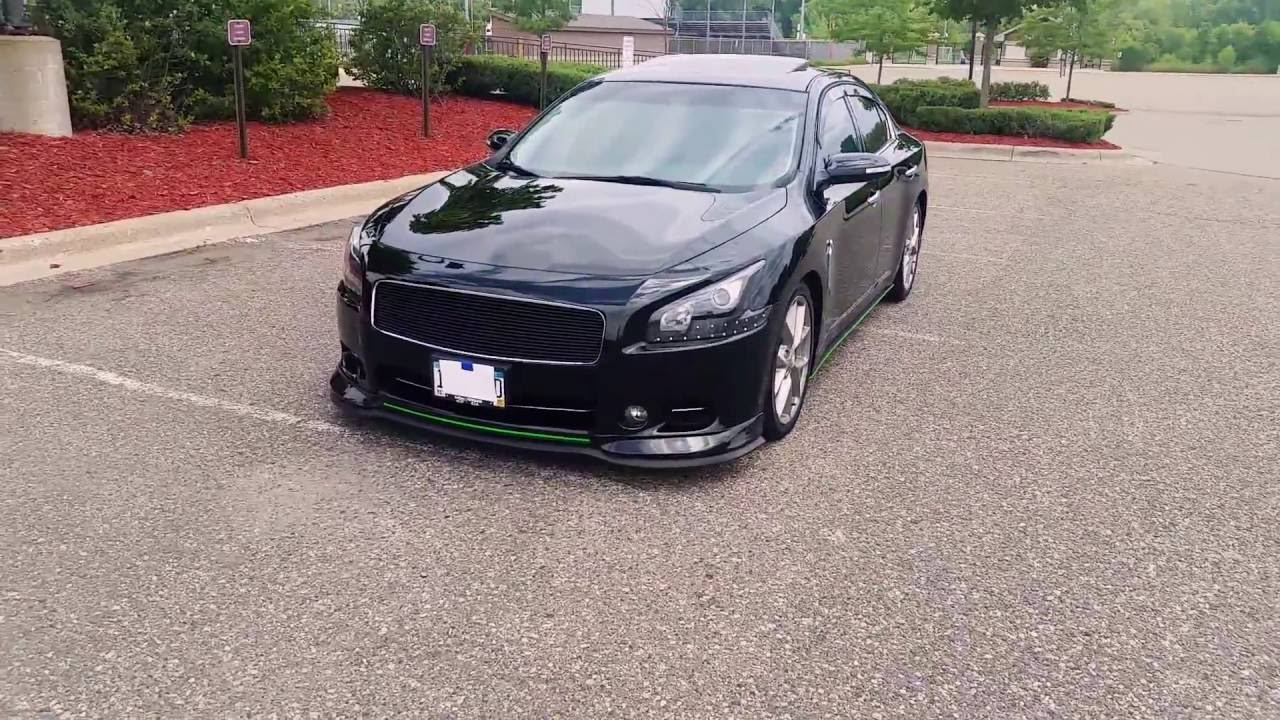 Famous Black And Green Custom Nissan Maxima Youtube