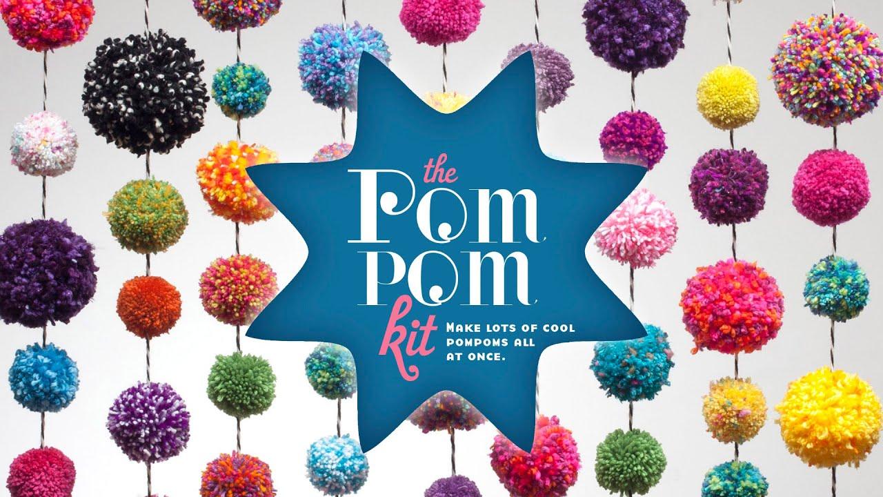 Craft tastic pom pom kit youtube for Where to buy pom poms for crafts