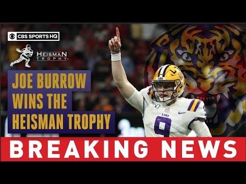 2019 Heisman Trophy Winner Qb Joe Burrow Captures Lsu S First Heisman Since 1959 Cbs Sports Hq Youtube
