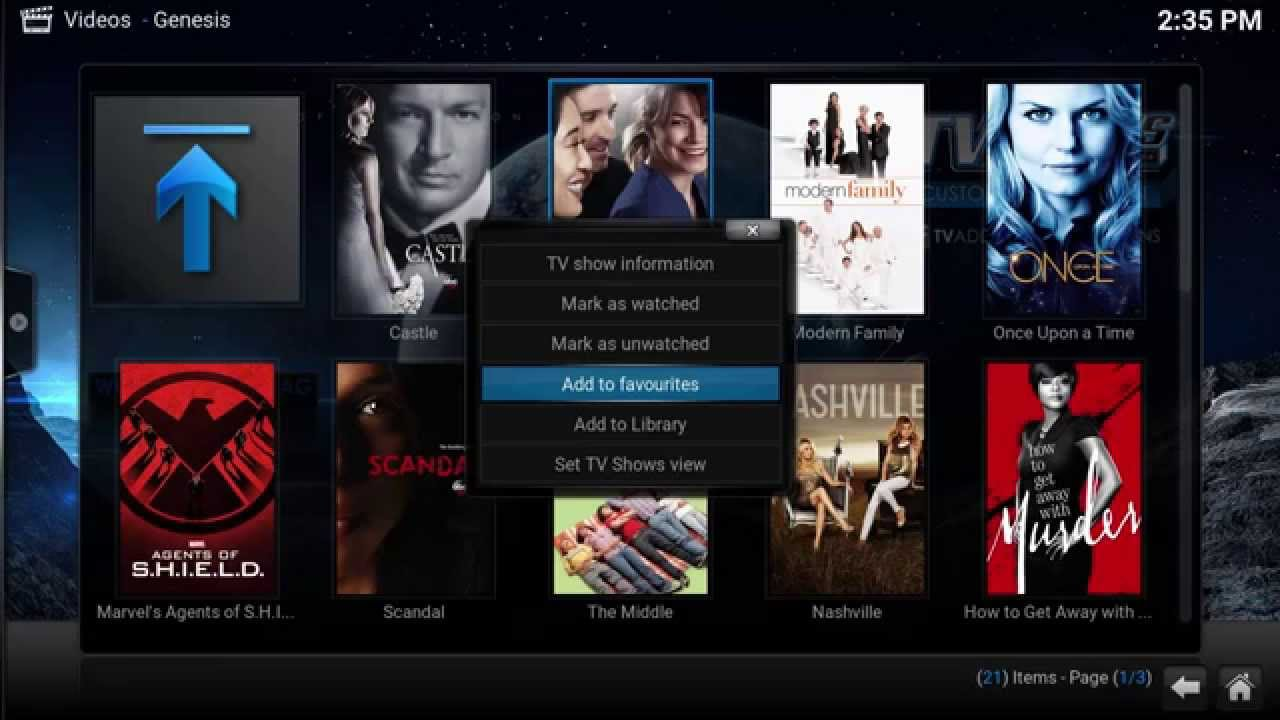 Browse and Stream Network Shows in Kodi XBMC using Genesis for Free