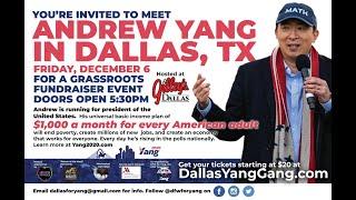 Andrew Yang Fundraiser December 6, 2019
