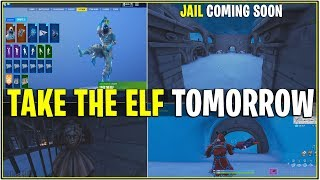 *NEW* 14 DAYS OF FORTNITE TOMORROWS GIFT LEAKED! *Take the Elf Emote* (Leaked Presents)