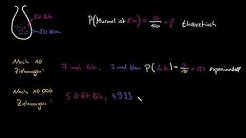 Theoretische und experimentelle Wahrscheinlichkeiten