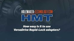 How easy it is to use VersaDrive Rapid-lock adapters?