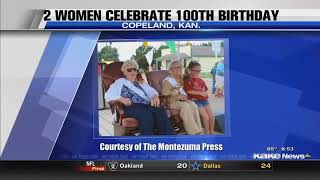 Parade for 2 Kansas women who turned 100 years old