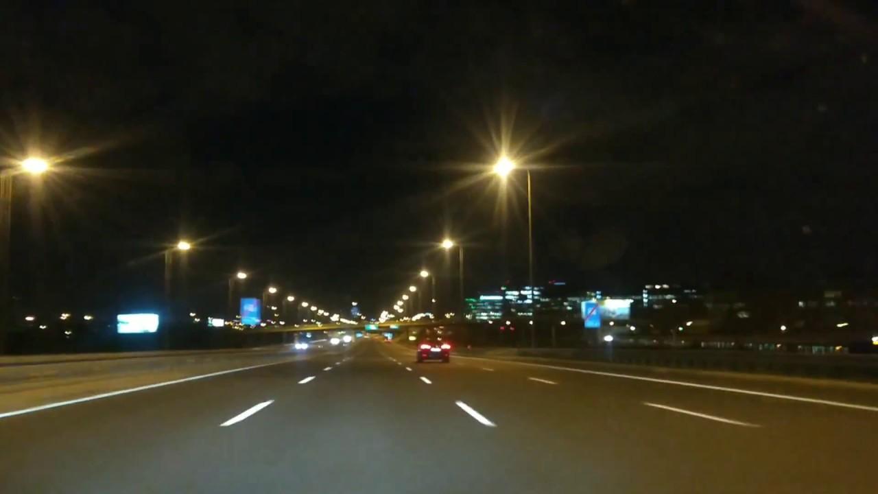 Evening drive in Poland / Вечерняя поездка в Польше / 晚上在波兰开车