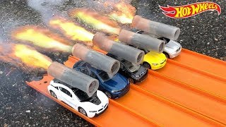 HOT WHEELS BMW ROCKET POWERED RACE !!